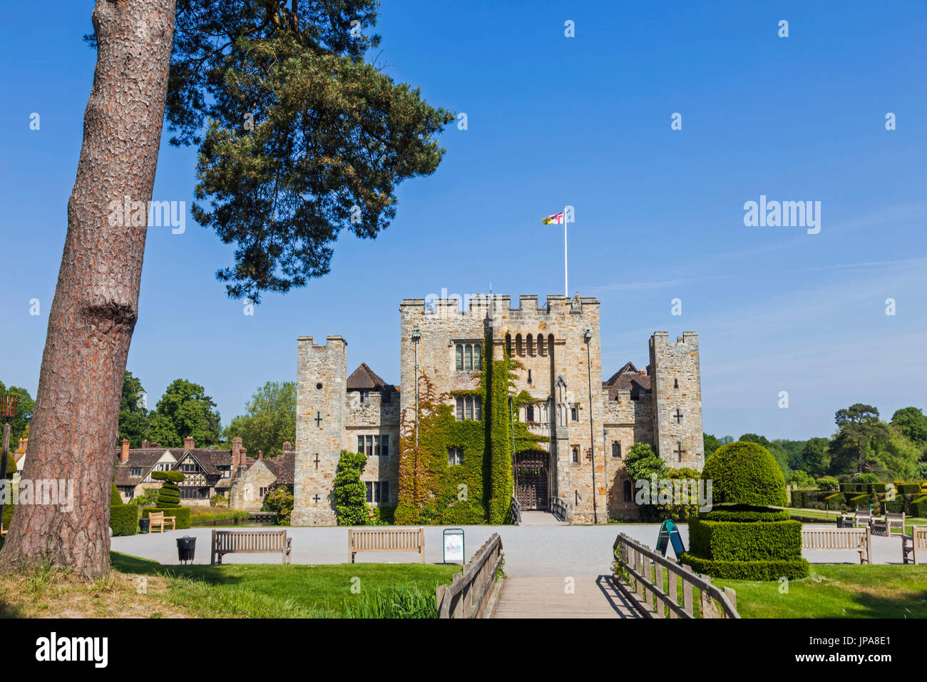Inghilterra, Kent, Hever, il castello di Hever Castle Immagini Stock