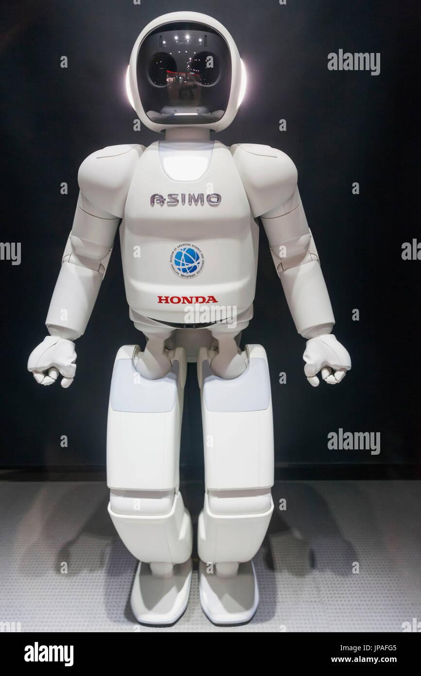 """Giappone, Honshu, Tokyo, Odaiba, presso il Museo Nazionale della Scienza emergente e innovazione aka Miraikan, il robot """"Asimo' Immagini Stock"""