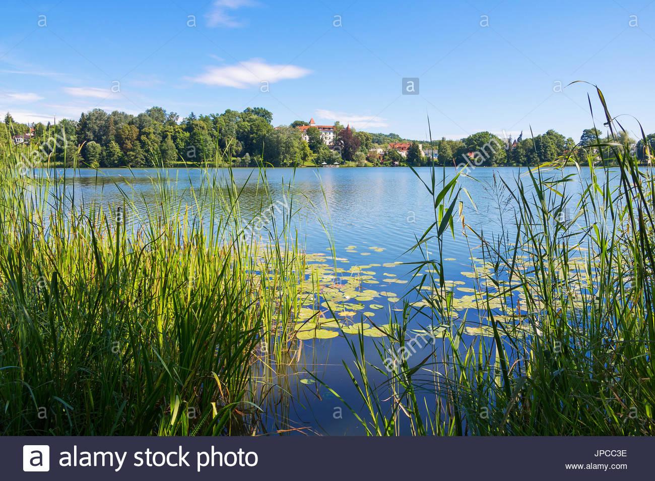 Panorami Estivi Cieli Blu Laghi Paesaggio Assolato Lago Germania