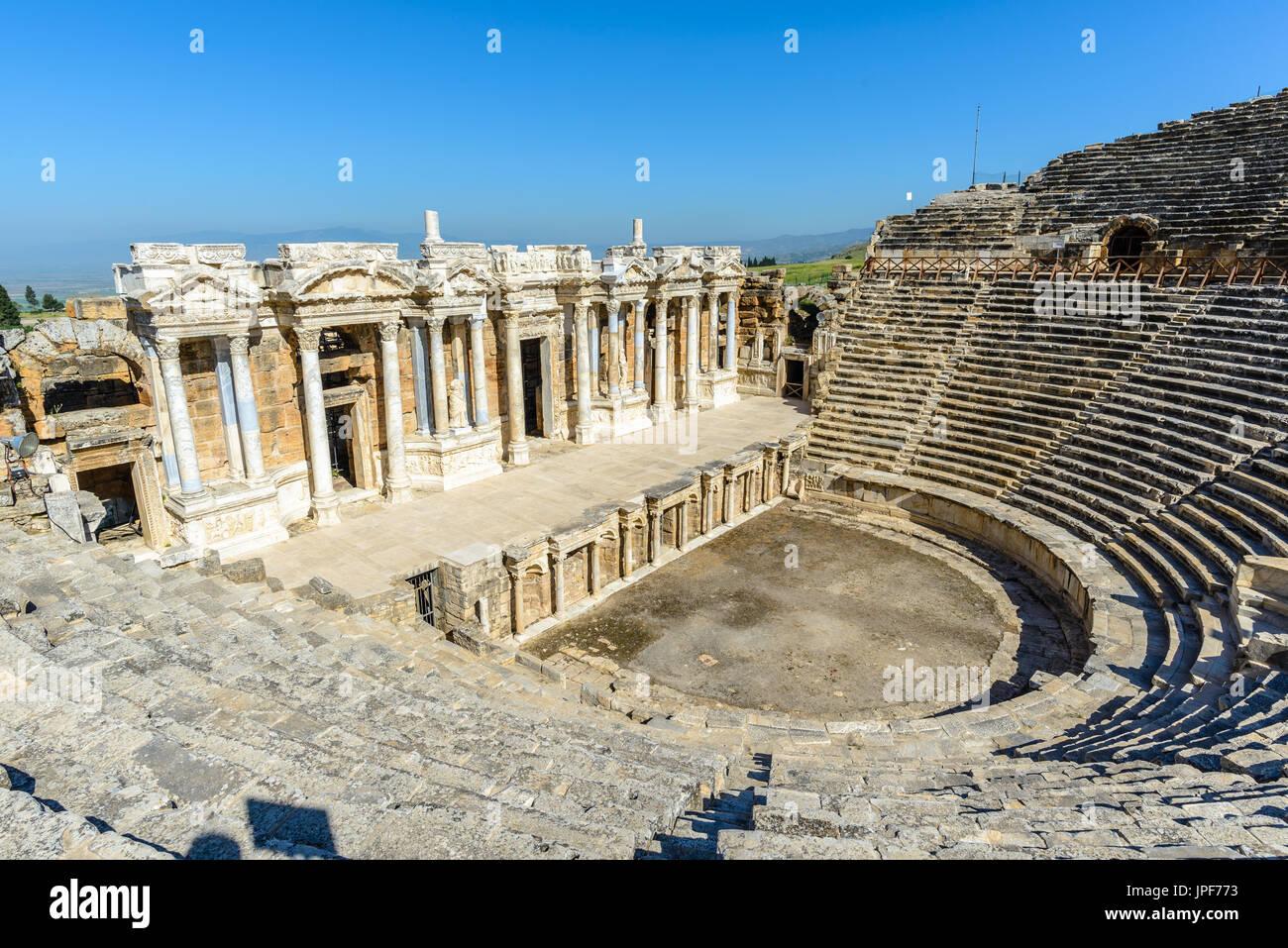 Anfiteatro di Hierapolis, Turchia Foto Stock