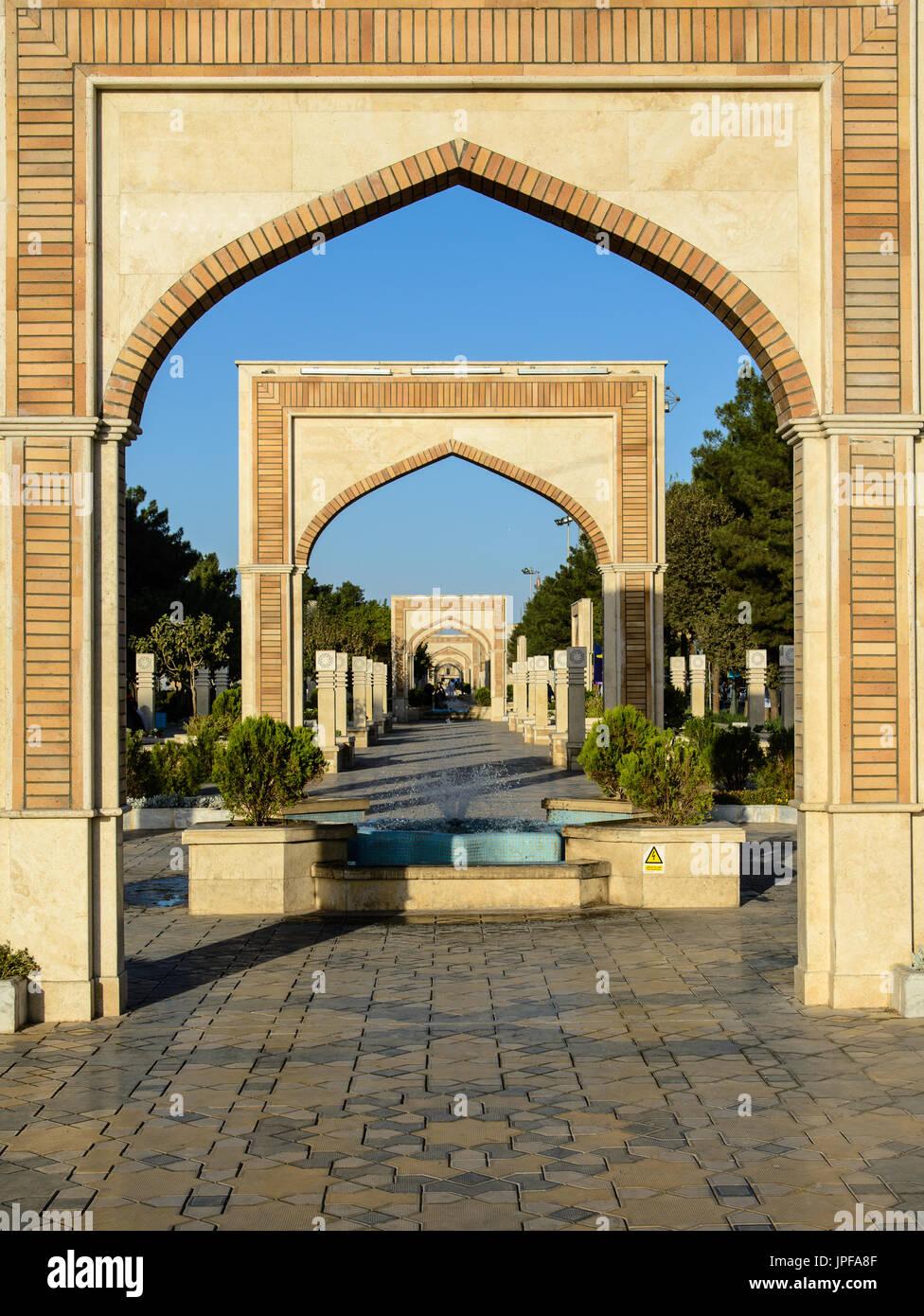 Arco di Montazeri Boulevard, Qom, Iran Immagini Stock