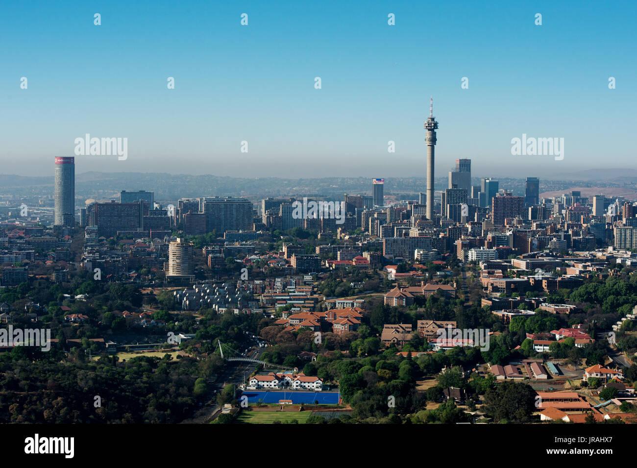 Vista aerea della città di Johannesburg skyline Immagini Stock