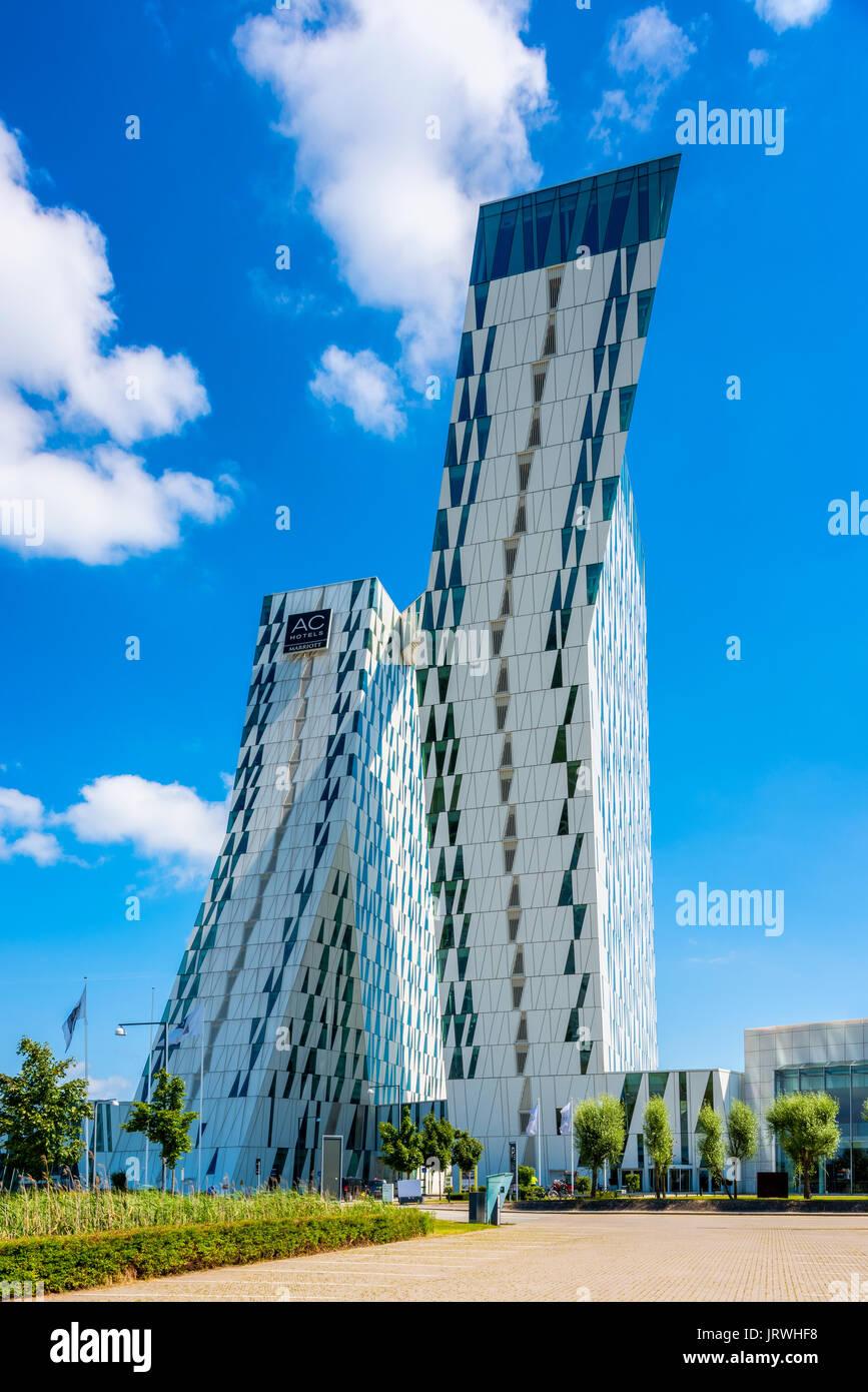 AC Bella Sky Hotel Marriott in Orestad ad distretto di Copenhagen DANIMARCA Immagini Stock