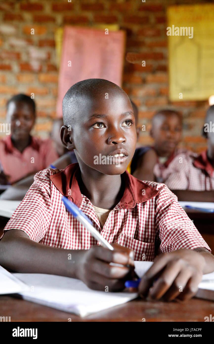 Scuola ugandese, Uganda, Africa Immagini Stock