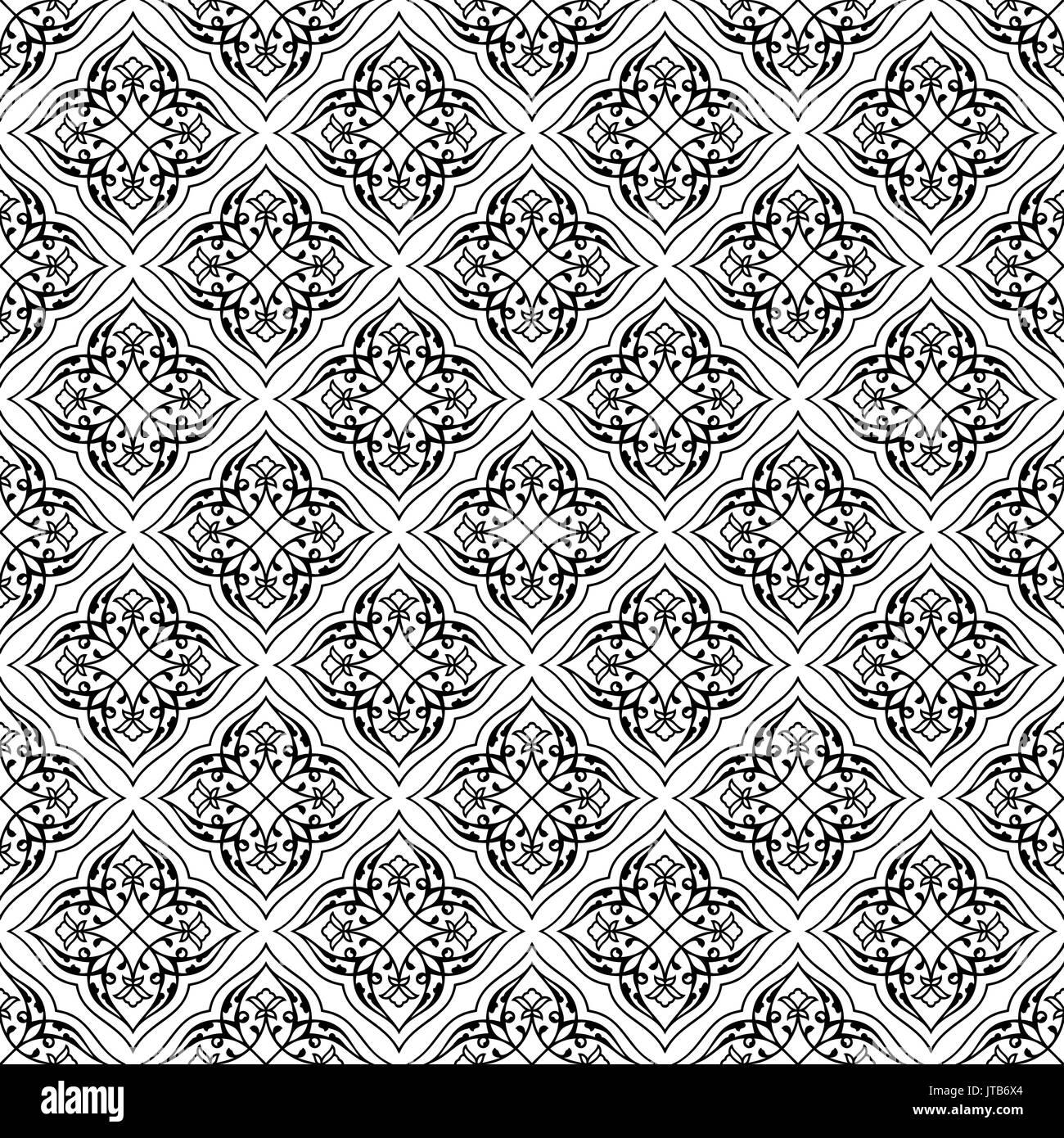 Oriental seamless pattern del mandala. Illustrazione Vettoriale