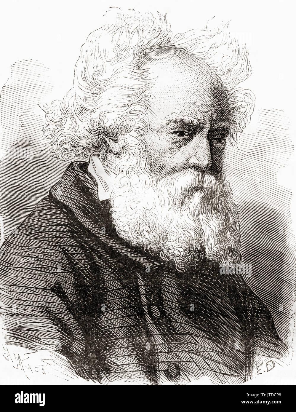 Frédéric Sauvage, 1786 - 1857. Barchetta francese builder che ha effettuato i primi test di tipo a vite eliche marine. Da Les Merveilles de la Science, pubblicato 1870. Immagini Stock
