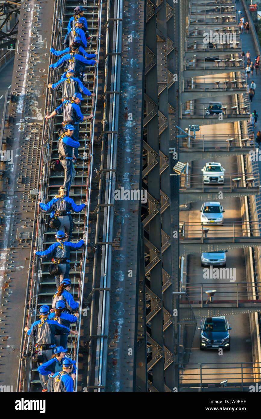 Sydney Bridge Climb, Sydney, Nuovo Galles del Sud, Australia Immagini Stock