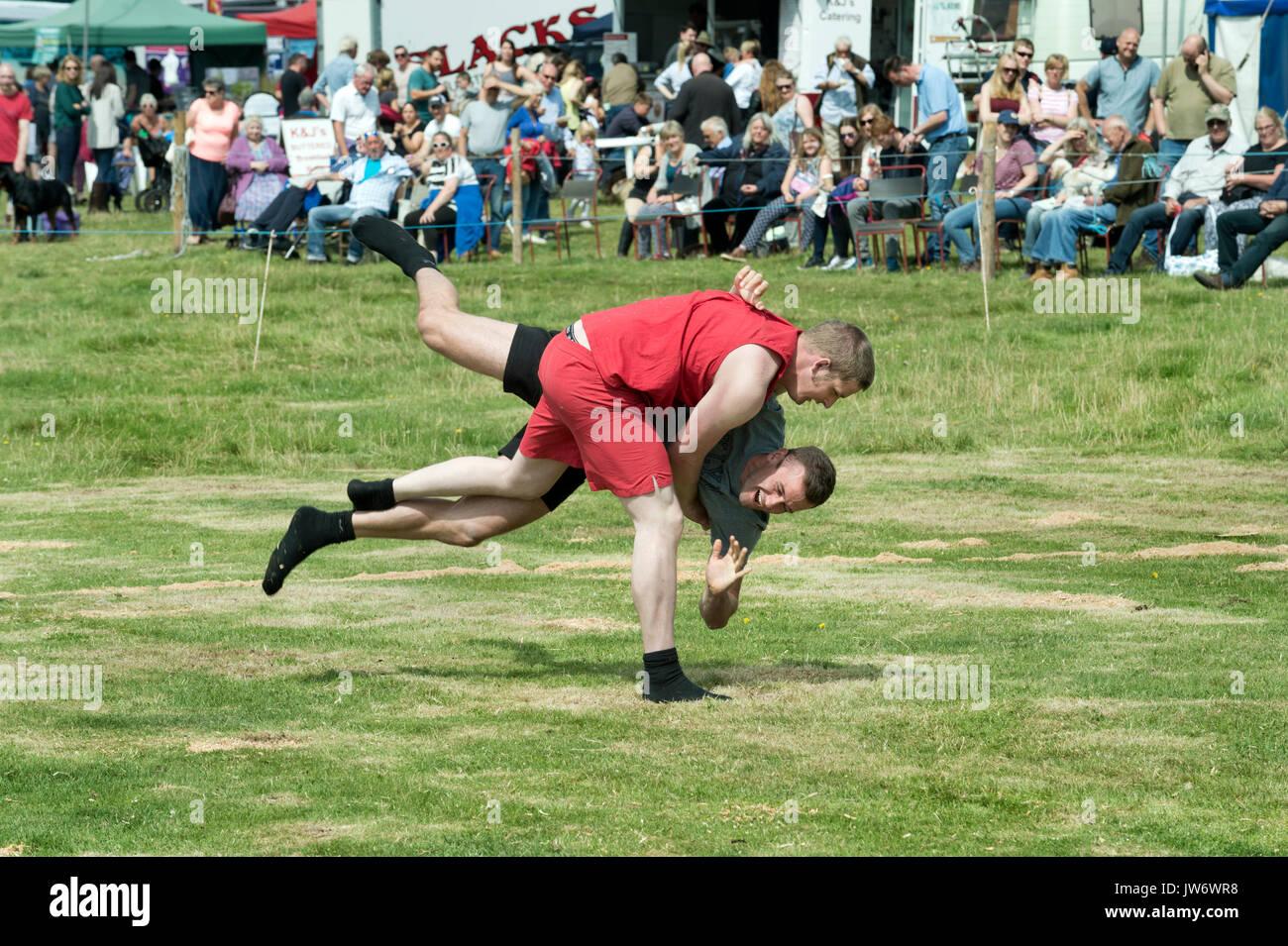 Appleby mostrano, Cumbria, Regno Unito. 10 Ago, 2017. Cumberland wrestling a Appleby annuale mostra, Cumbria, Regno Unito, 10 agosto 2017. Credito: John Bentley/Alamy Live News Immagini Stock