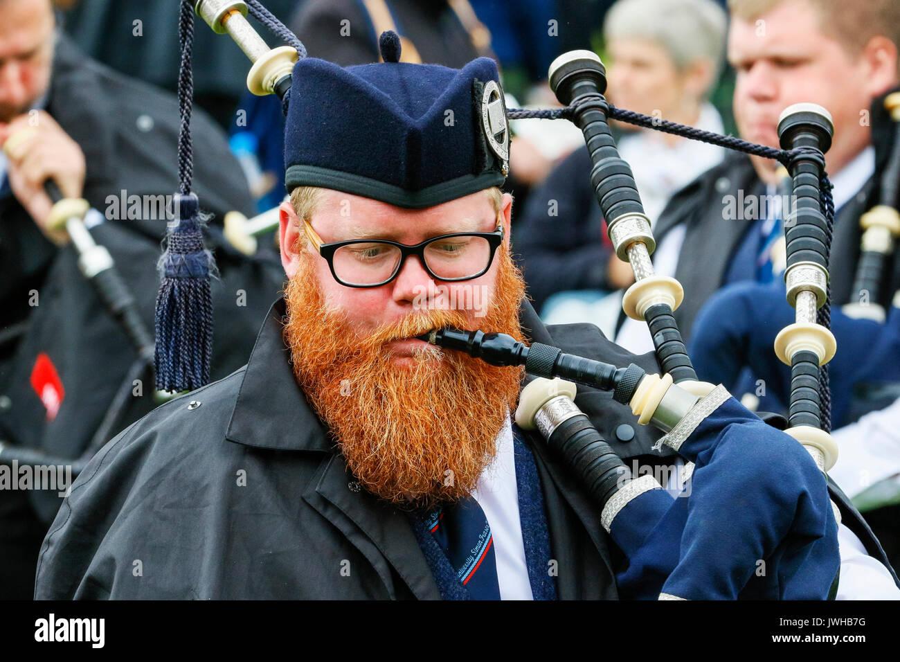 Glasgow, Regno Unito. 12 Ago, 2017. È stato stimato che più di 10.000 spettatori si è rivelato per guardare il giorno Foto Stock