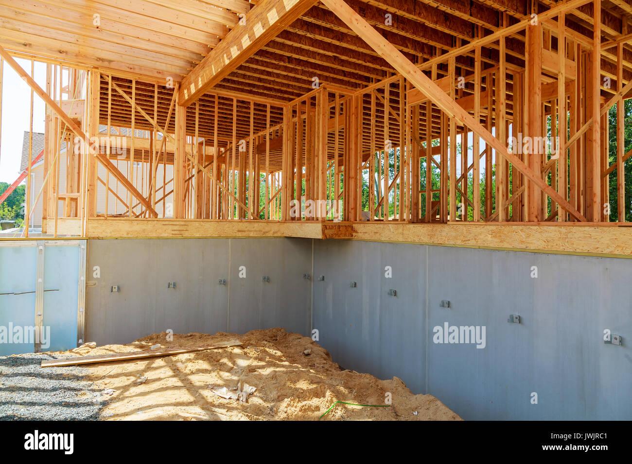 Costruire Tetto In Cemento nuova costruzione in casa di un blocco di cemento a casa con
