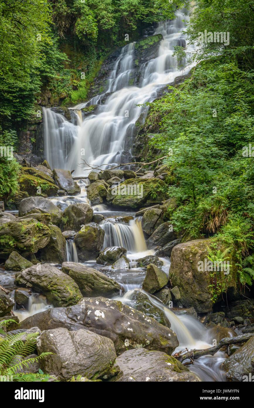 Inferiore cascata Torc Irlanda Ring of Kerry Immagini Stock