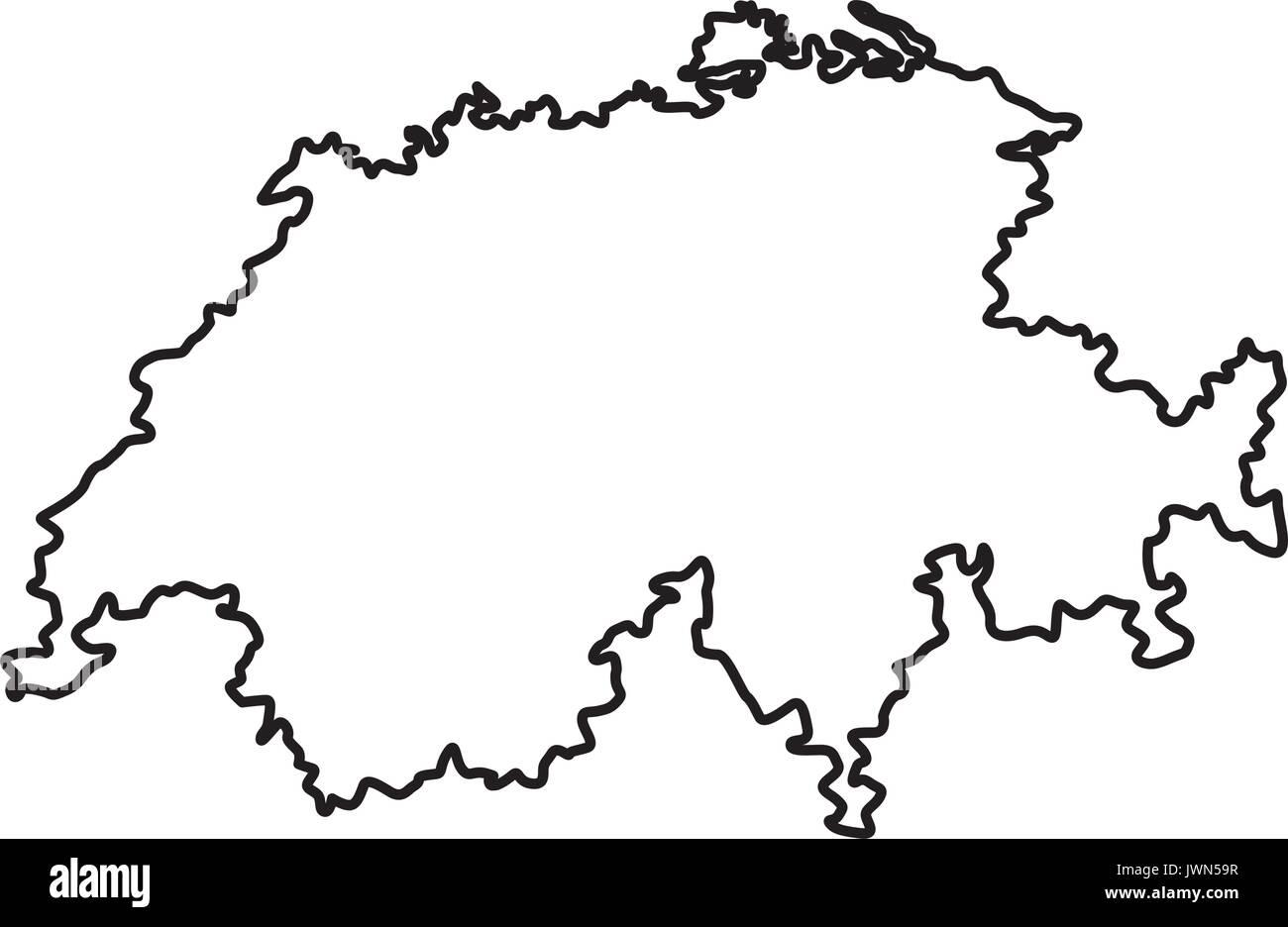 La Svizzera Cartina.Cartina Della Svizzera Geografia Paese Nazione Europa Immagine E Vettoriale Alamy