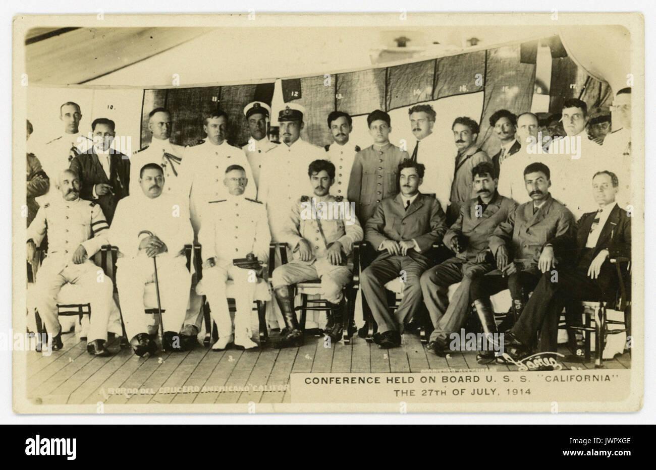 A bordo del Crucero Americano _ Foto Stock