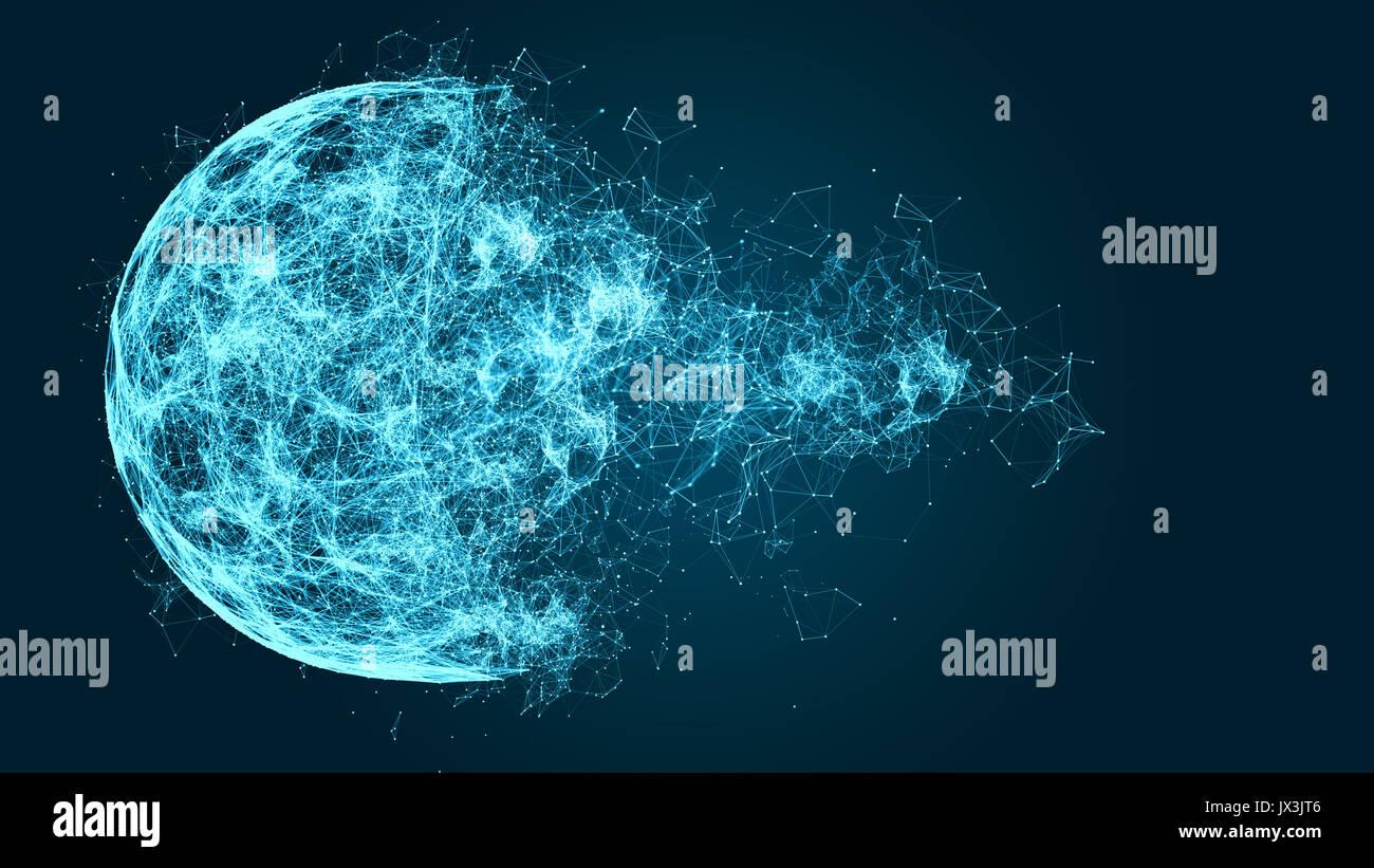 Rotto rete dati immagine Immagini Stock