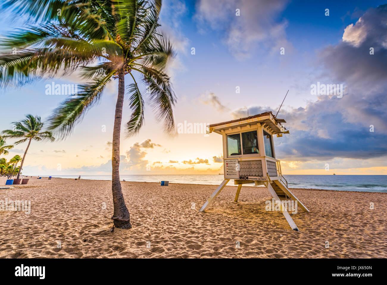 Spiaggia di Fort Lauderdale, Florida, Stati Uniti d'America. Immagini Stock