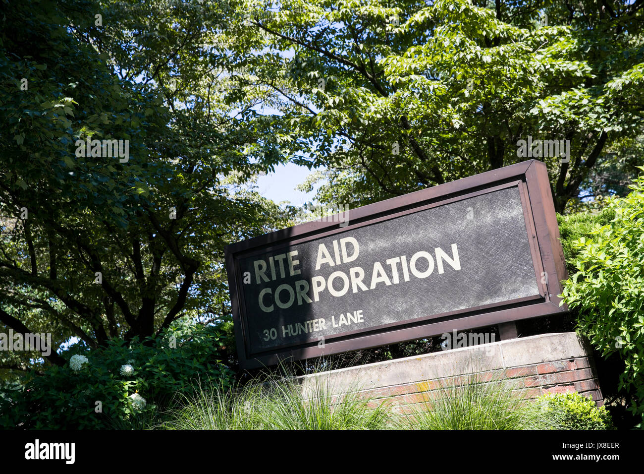 Un logo segno al di fuori della sede del rito Aiuto Corporation in Camp Hill, Pensilvania il 30 luglio 2017. Immagini Stock