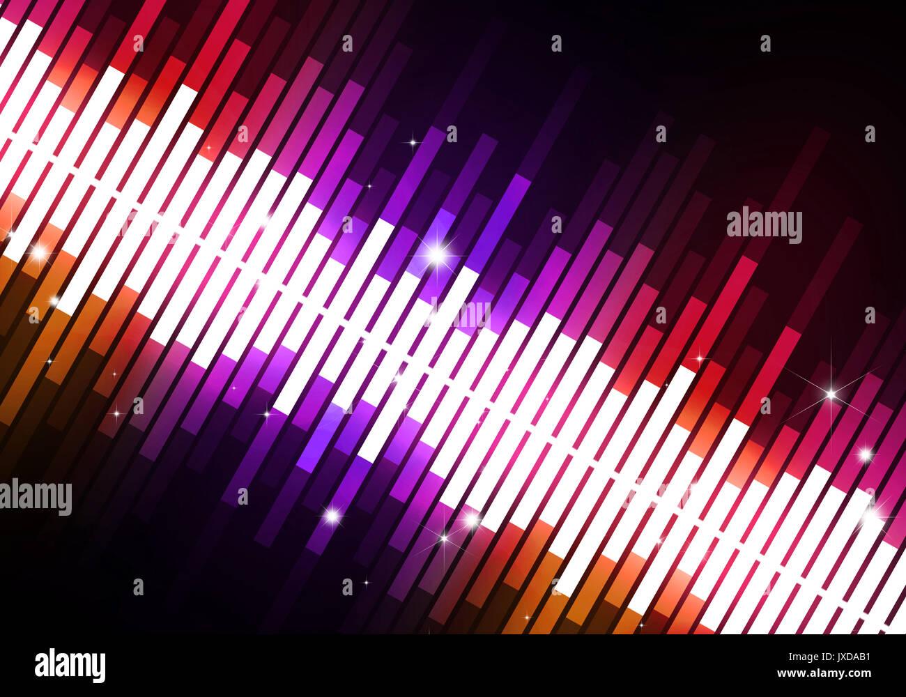 Abstract multicolore Equalizzatore musica di sfondo per gli eventi di festa Immagini Stock