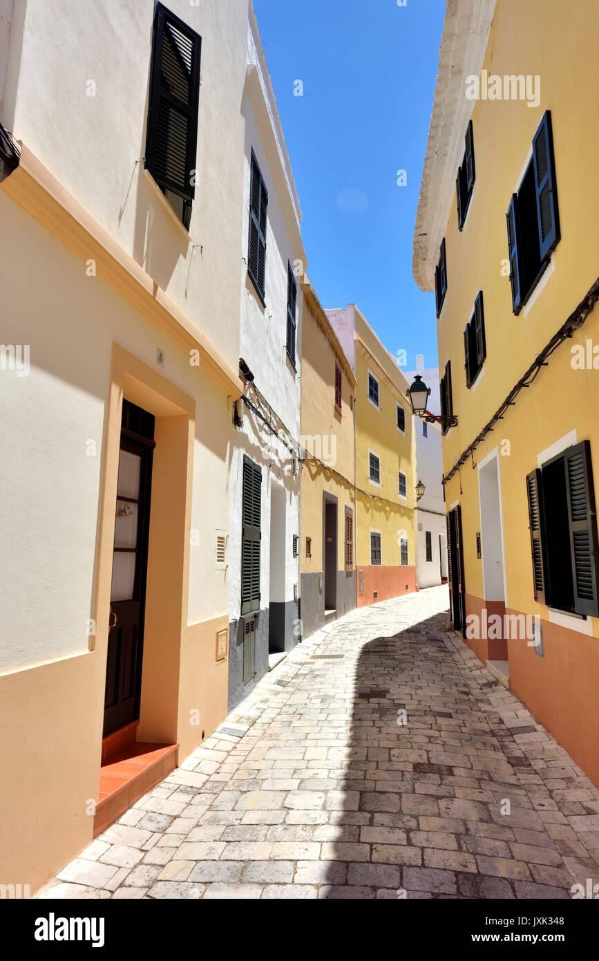 Scena di strada ciutadella Menorca Minorca Immagini Stock