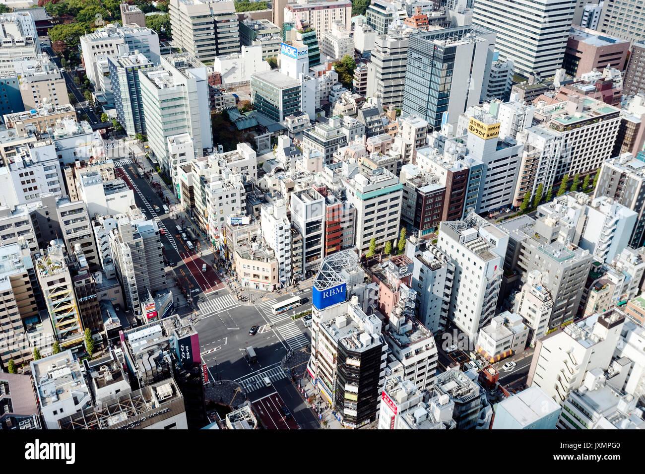 Vista aerea Tokyo Giappone edifici Foto Stock