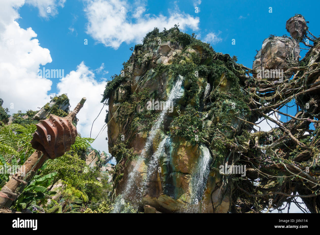 Montagne flottante in Pandora, avatar land, regno animale, Walt Disney World, a Orlando, Florida. Immagini Stock