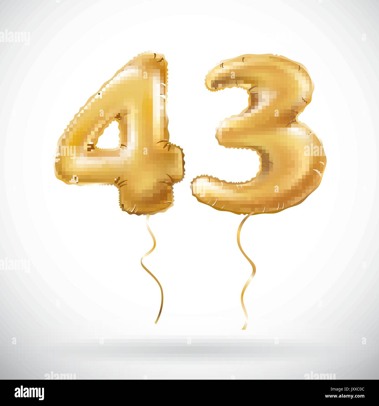 METALLIC ORO CANDELA Numeri 3 per Compleanno /& Anniversario