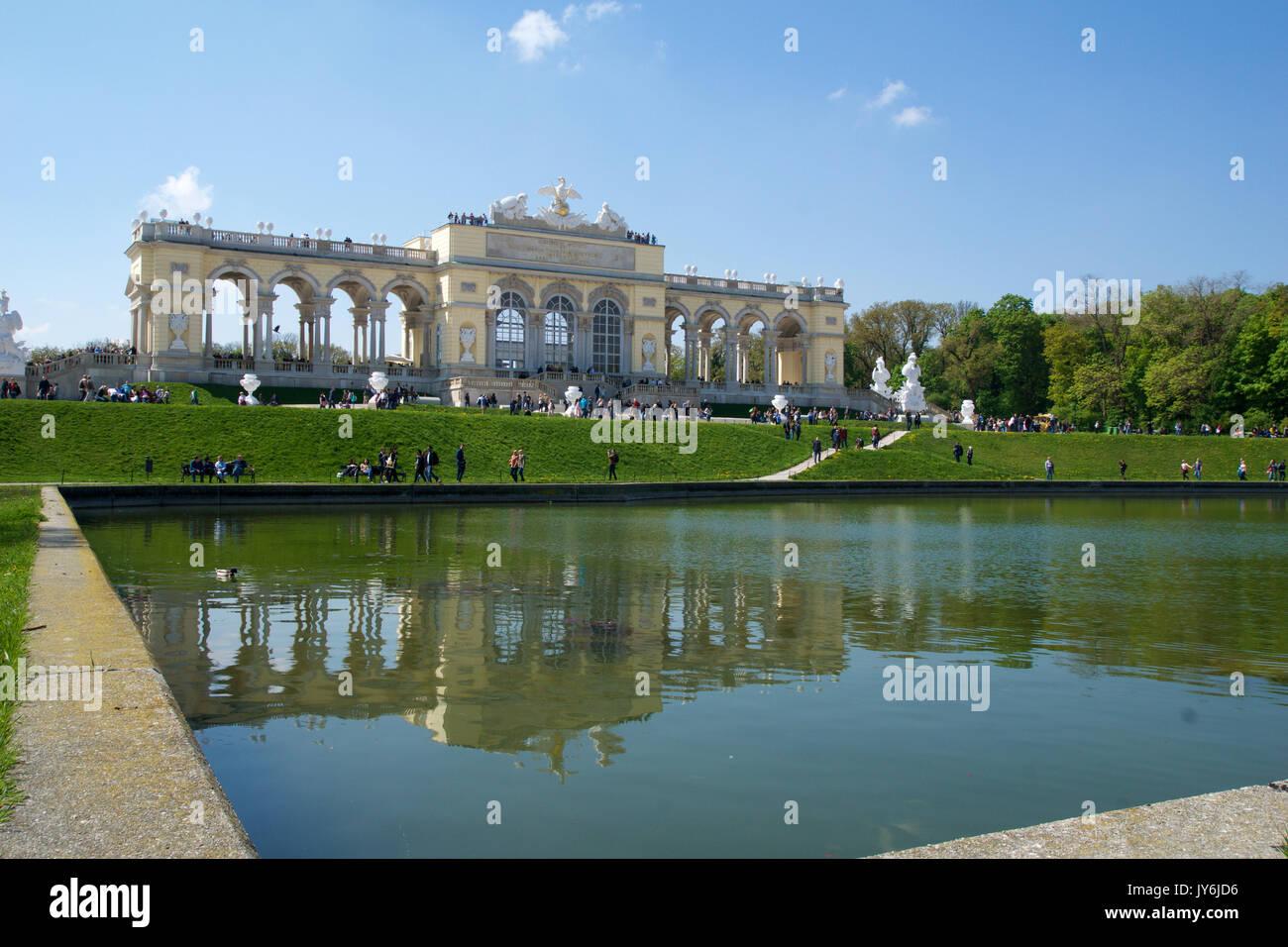 Vienna Austria Aprile 29th 2017 La Gloriette Ospita Una