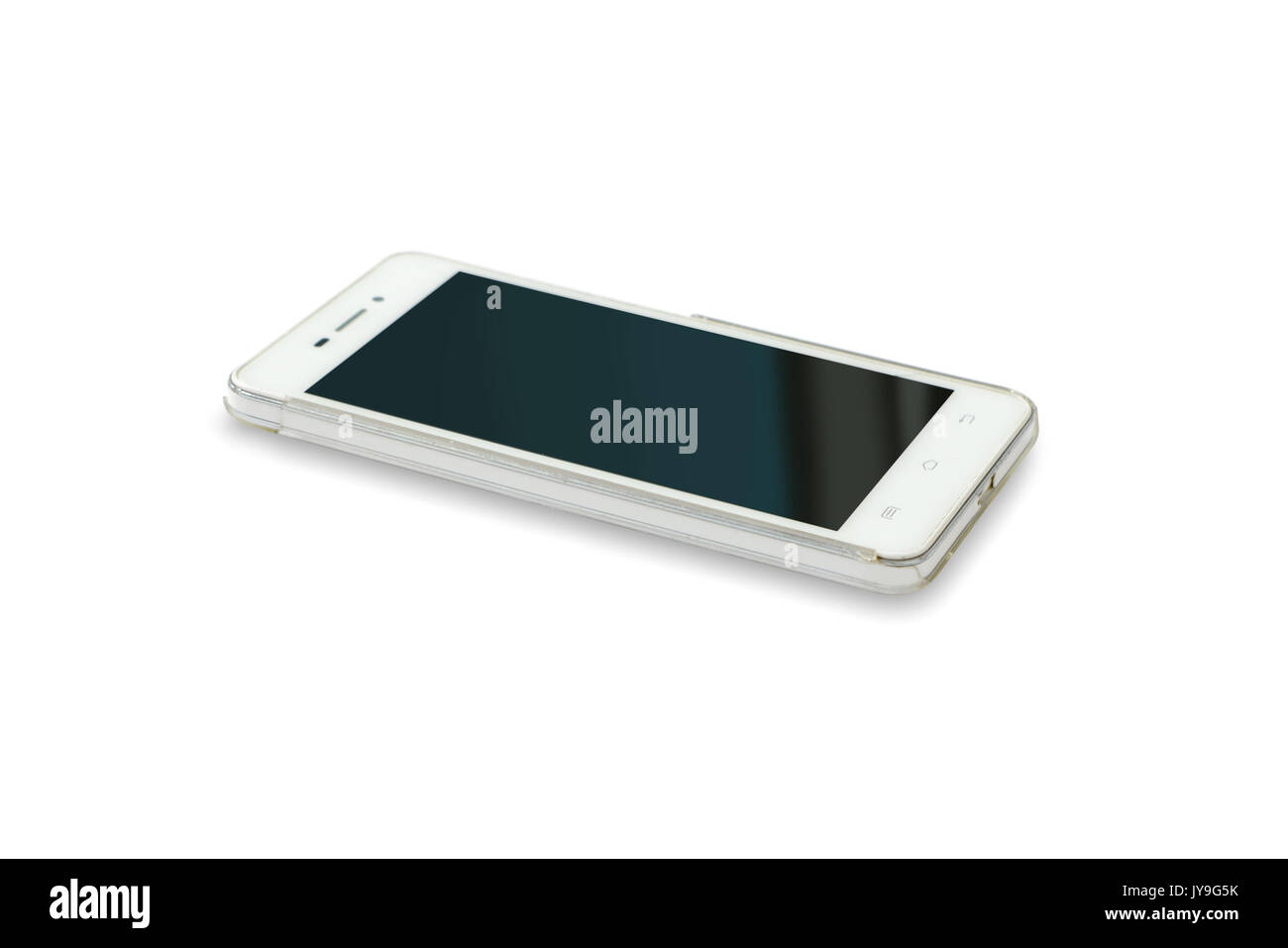 Smartphone Isolato Su Sfondo Biancotelefono Cellulare Su Sfondo