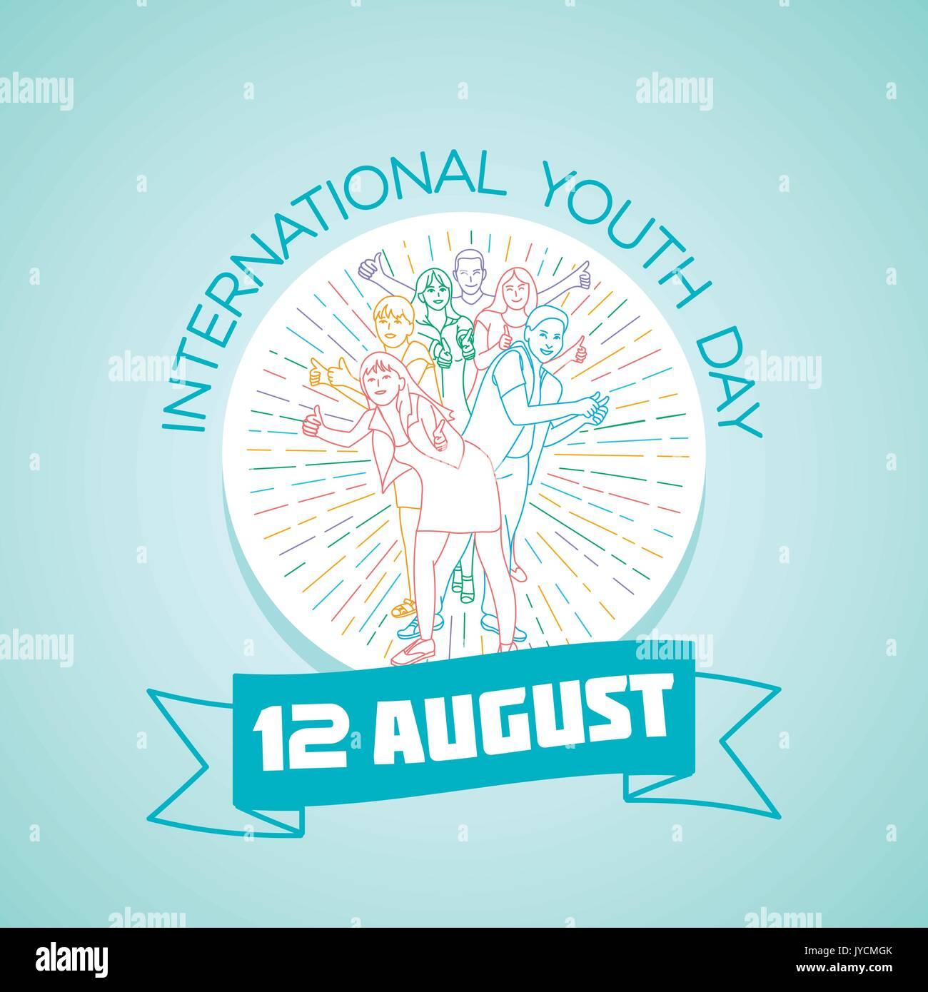Calendario Internazionale.Calendario Per Ogni Giorno Il 12 Agosto Biglietto Di Auguri