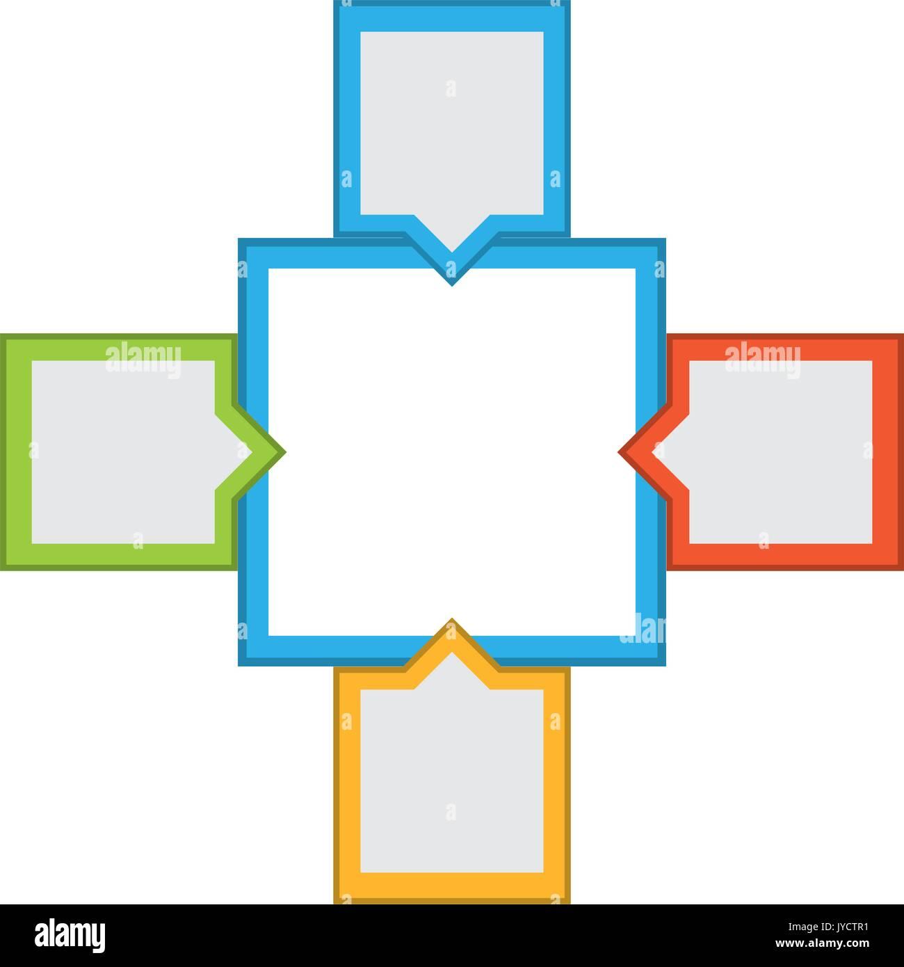 Infografico vuoto formato Immagini Stock