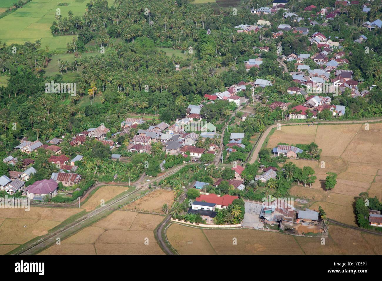 Banda Aceh vista aerea della zona residenziale Immagini Stock