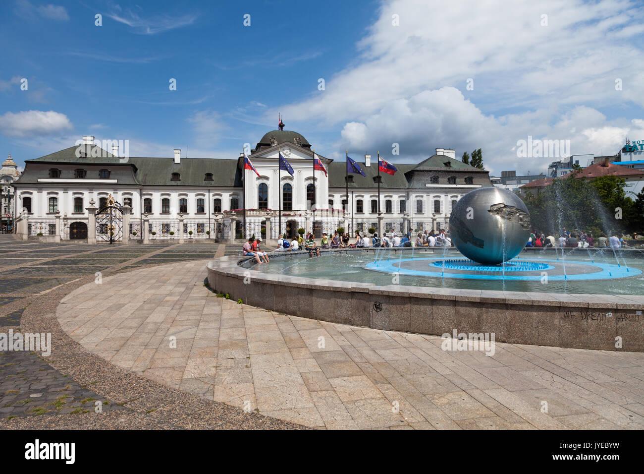 Palazzo di Schonbrunn, sito patrimonio mondiale dell'unesco, Vienna, Austria. Immagini Stock