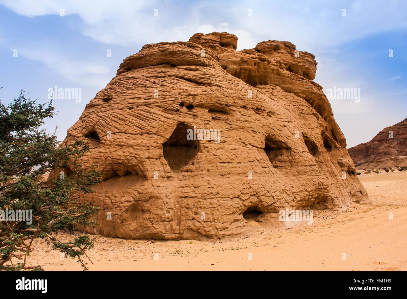 Cattedrale di pietra, Riyadh Provincia Immagini Stock