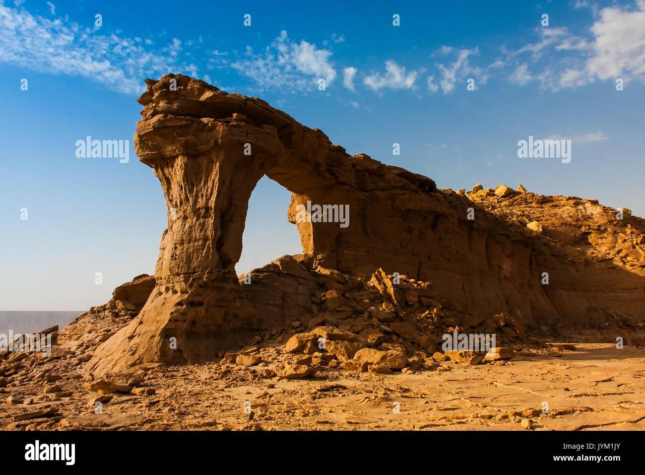 Arco Naturale di Riyadh, Arabia Saudita Immagini Stock