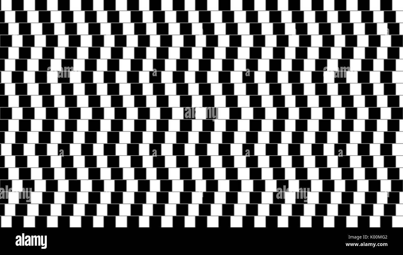 Abstract illusione ottica twisted forma geometrica Immagini Stock