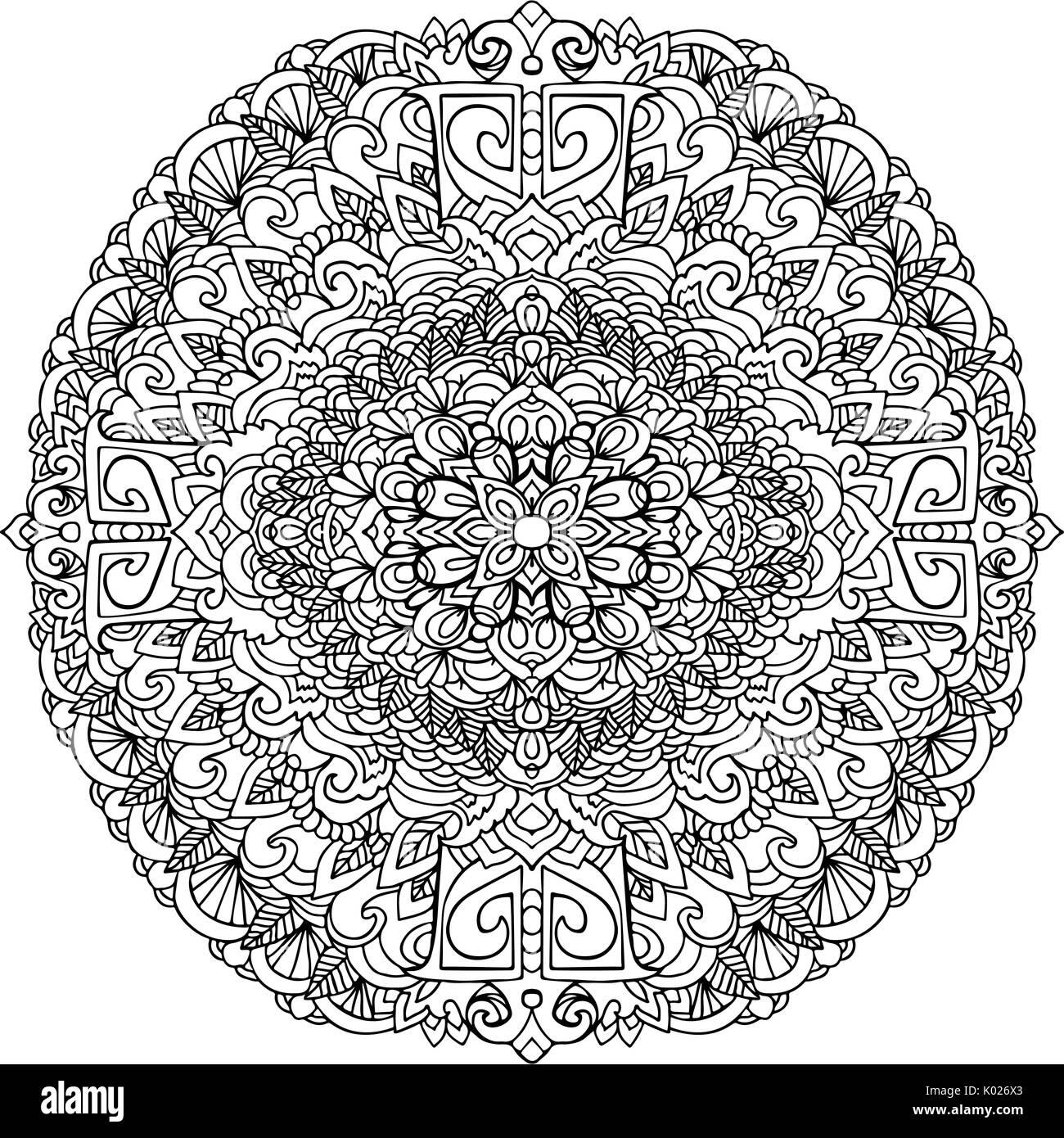 Abstract Mandala Ornamento Per Adulti Libri Da Colorare Modello