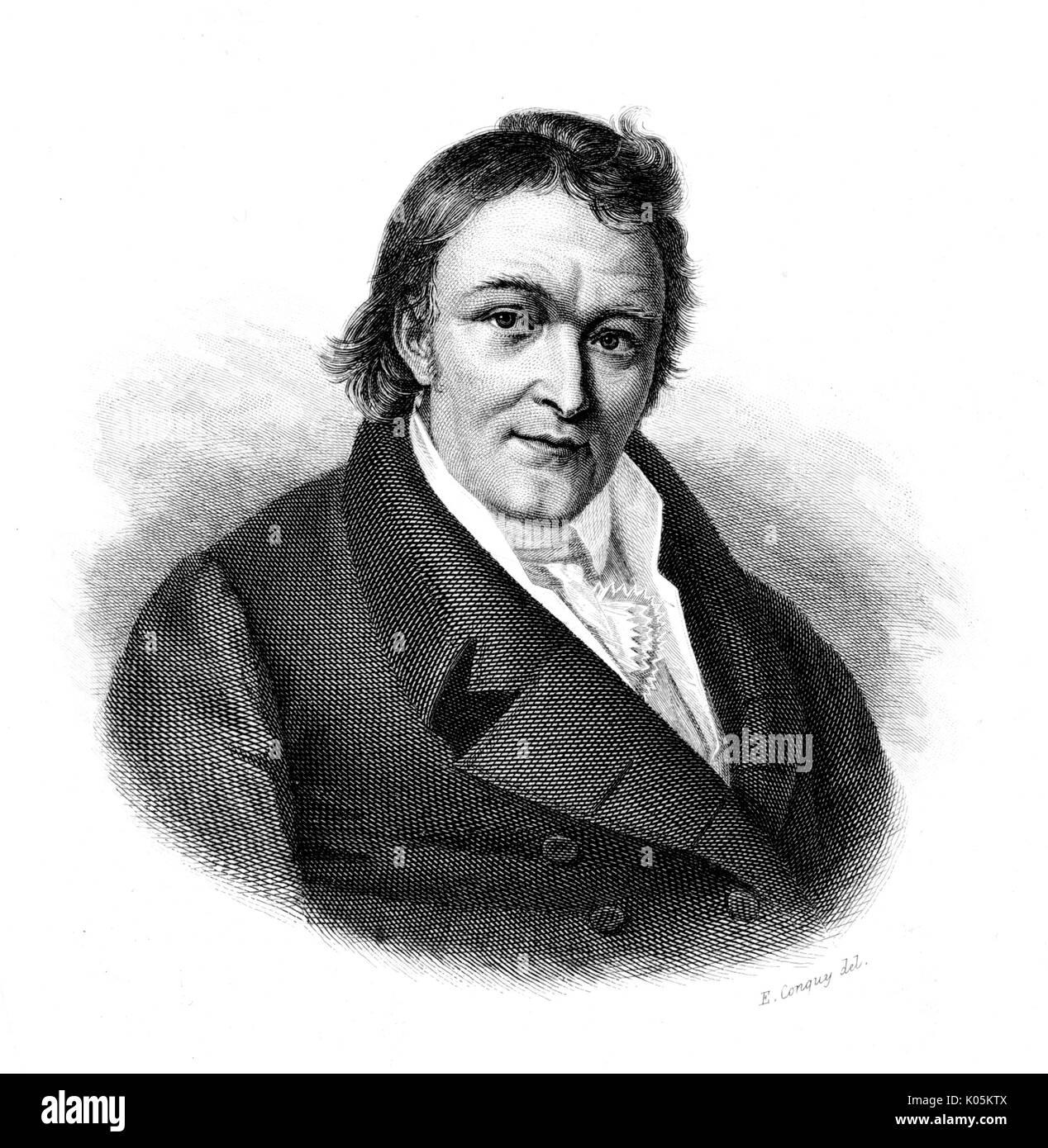Aloys Senefelder (1771 - 1834) - inventore tedesco di litografia, nato a Praga data: Immagini Stock