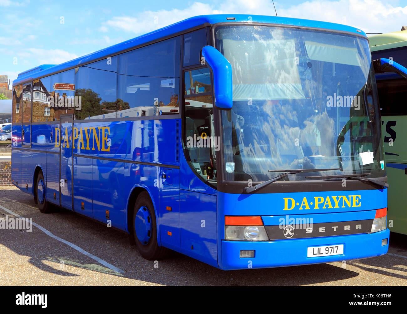 D.A. Payne, autobus, pullman, giorno suggerimenti, viaggio, escursione, escursioni, agenzia di viaggi, compagnie di trasporto, vacanze, viaggi, England, Regno Unito Immagini Stock