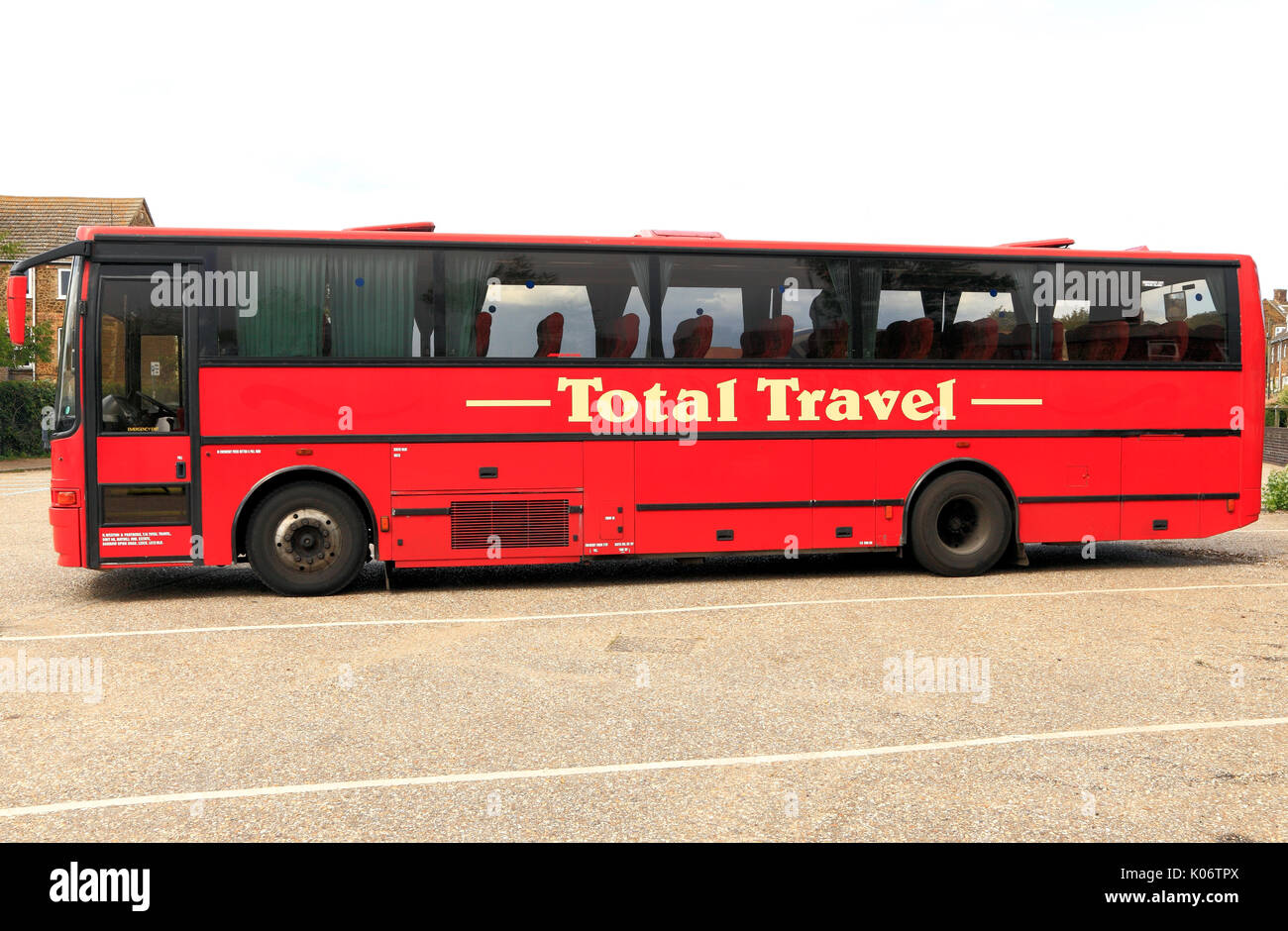 Corsa totale, pullman, autobus e gite di un giorno, viaggio, escursione, escursioni, società, imprese, England, Regno Unito Immagini Stock