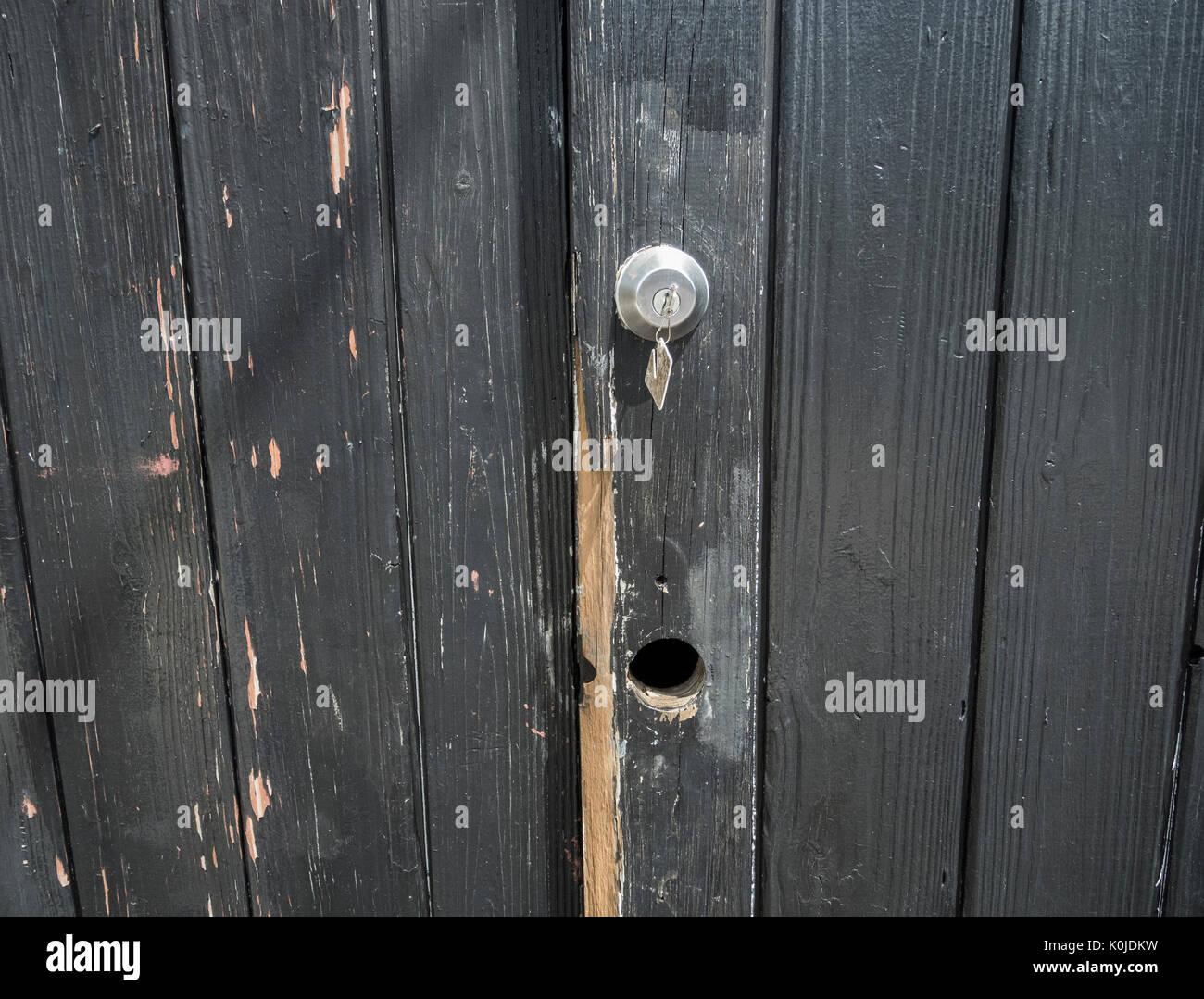 La vecchia Porta Nuova serratura Immagini Stock