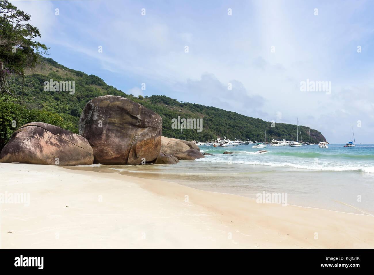 Lopes Mendes beach in Ilha Grande - Angra dos Reis Immagini Stock
