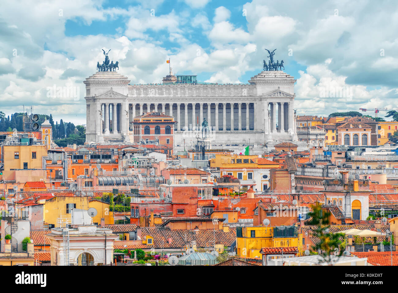 Vista Della Città Di Roma Dal Di Sopra Dalla Collina Della