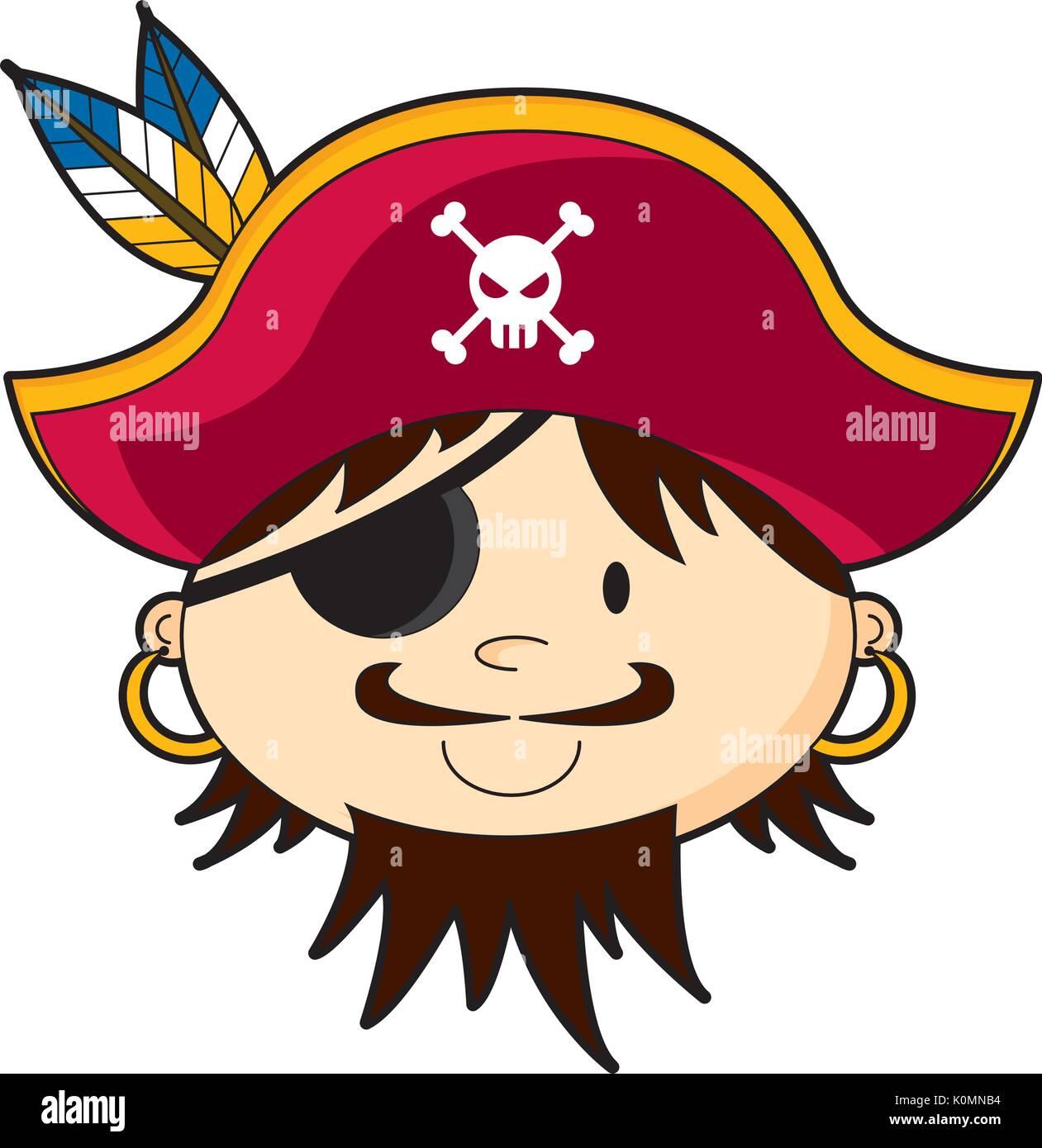 Costume Set Pirata 3 IN 1 SET PIRATA COLTELLO Eye Patch e baffi pirata Set