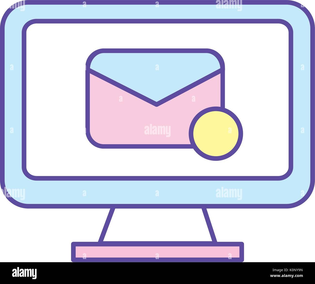 La tecnologia del computer con e-mail messaggio elettronico Immagini Stock
