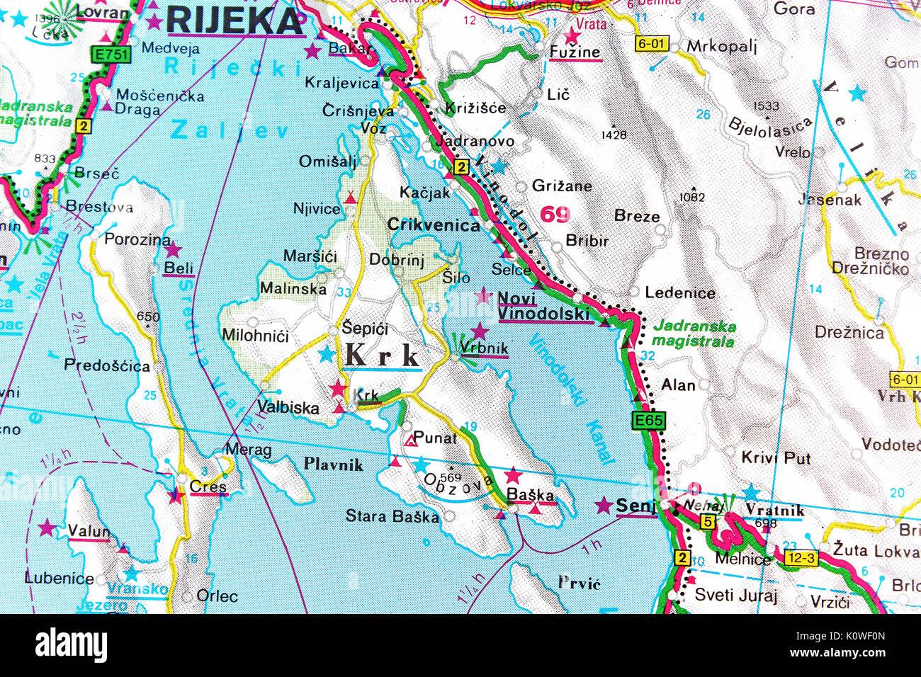 Cartina Stradale Baska Croazia.City Of Krk Immagini City Of Krk Fotos Stock Alamy