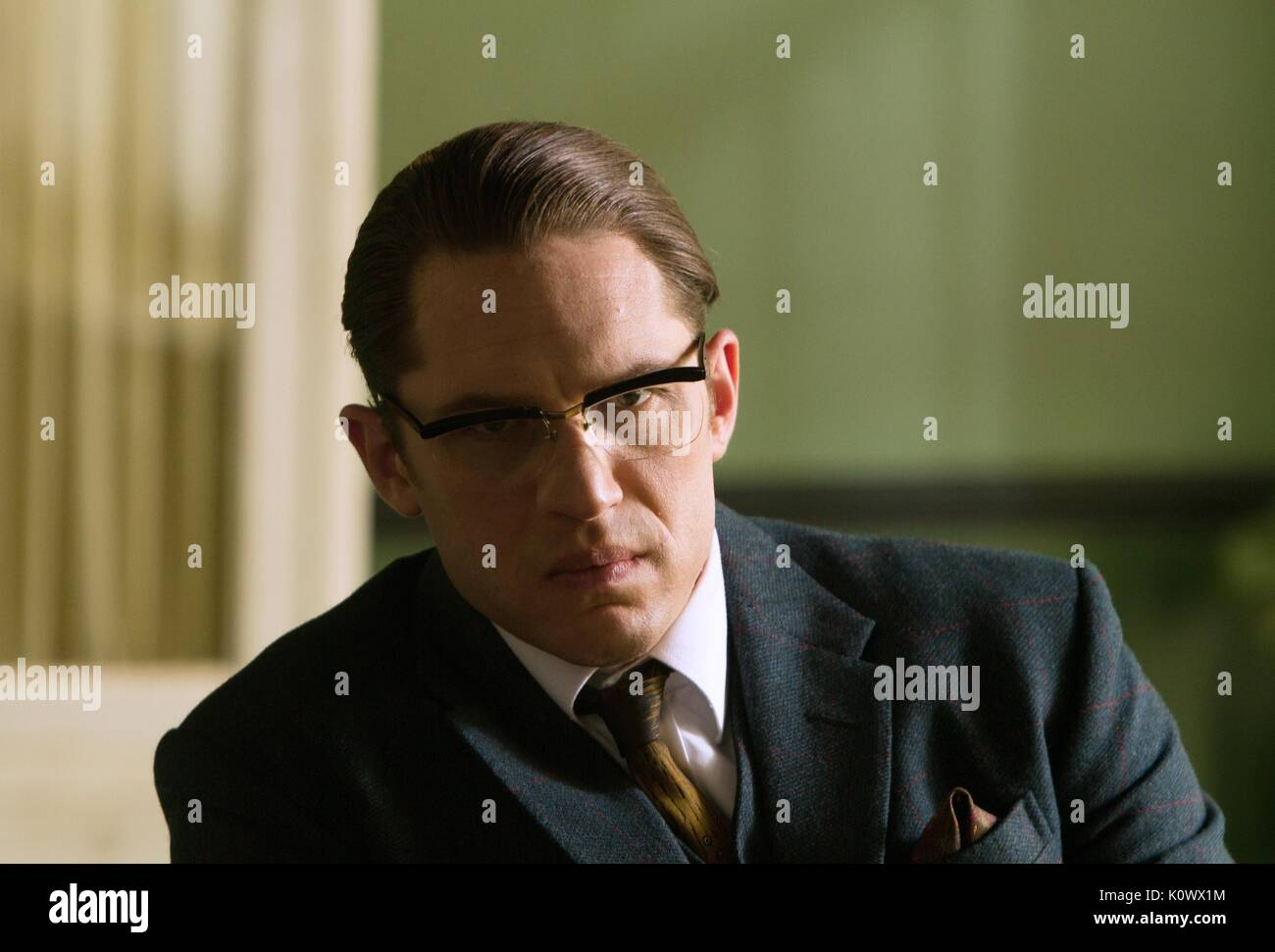 TOM HARDY legenda (2015) Immagini Stock