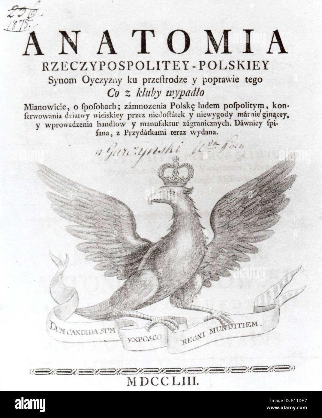 Anatomia Rzeczypospolitey Polskiej Immagini Stock