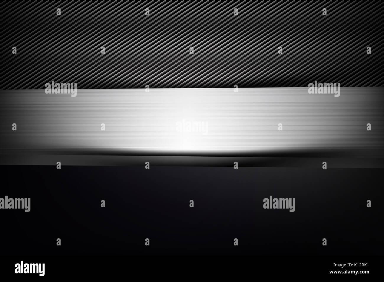 Abstract sfondo scuro e fibra di carbonio nera illustrazione vettoriale EPS10 Immagini Stock