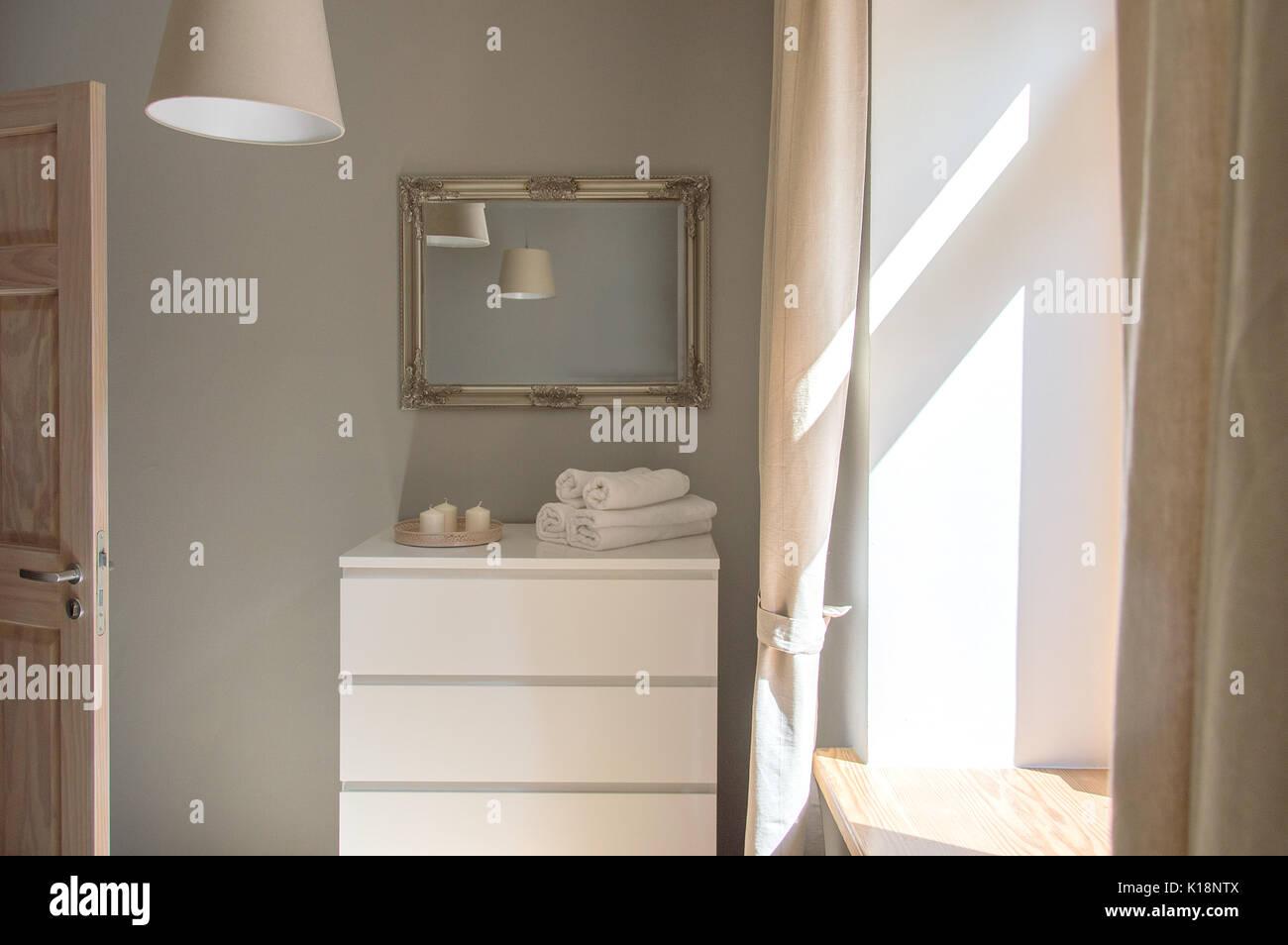 Lo stile scandinavo interior design di una piccola camera da ...