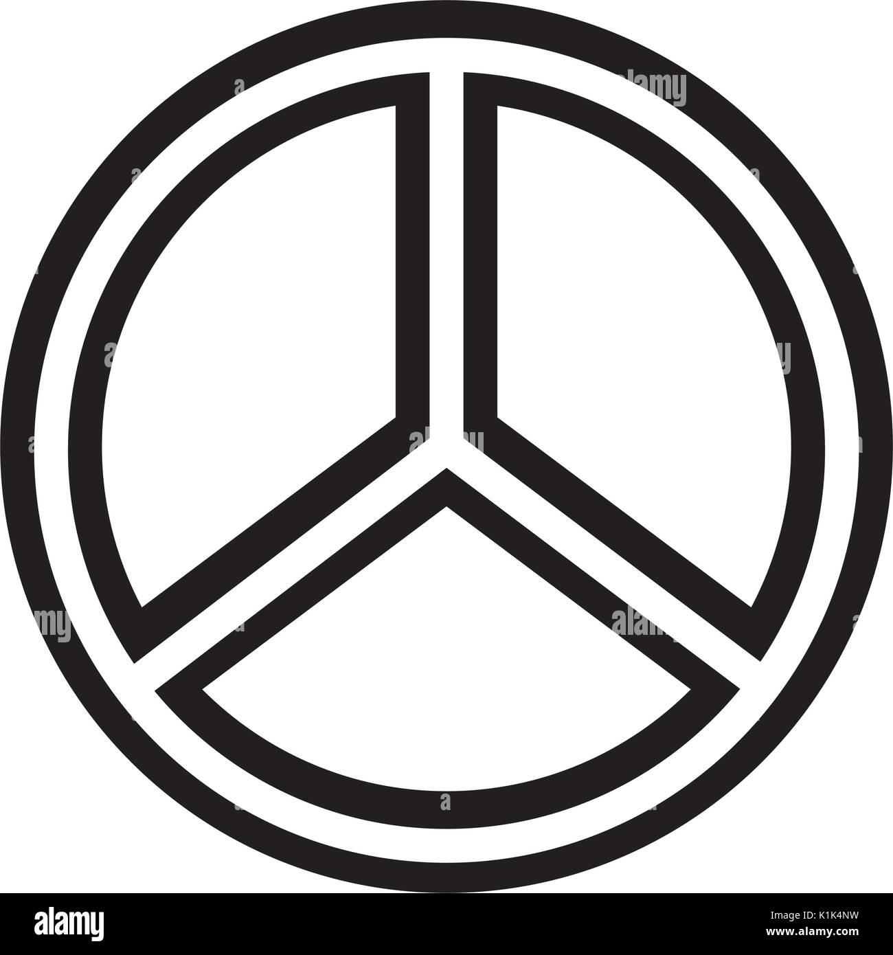 Simbolo di pace icona isolato Immagini Stock