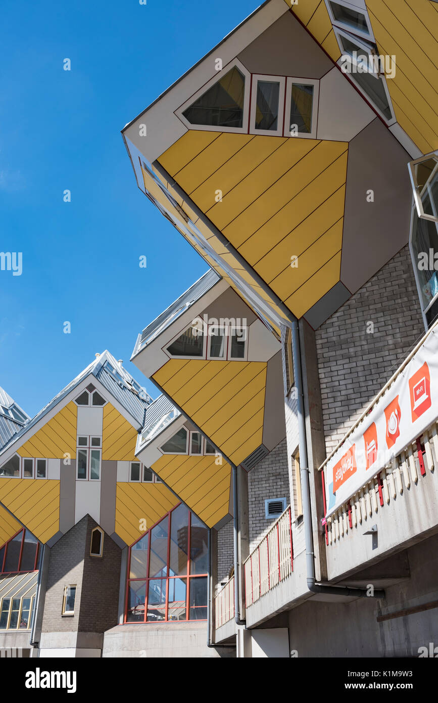 Case Cubiche, cubo architettura, architetto Piet Blom, Blaak, Rotterdam, Olanda, Paesi Bassi Immagini Stock